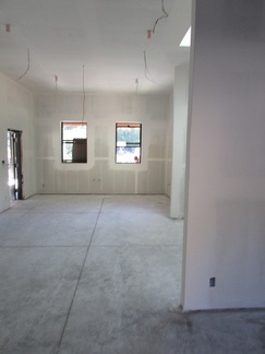 Sheetrock and mud on the kitchen