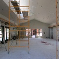 Scaffolding in the new sala
