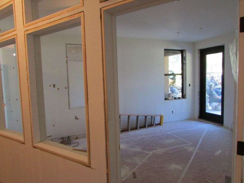 Windows and doors being installed in the kids room