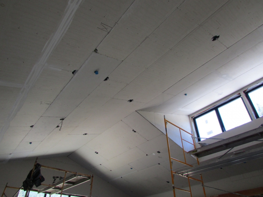 Ceiling of the new sala