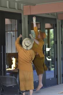 Ajahn Amaro levitating helps get the job done
