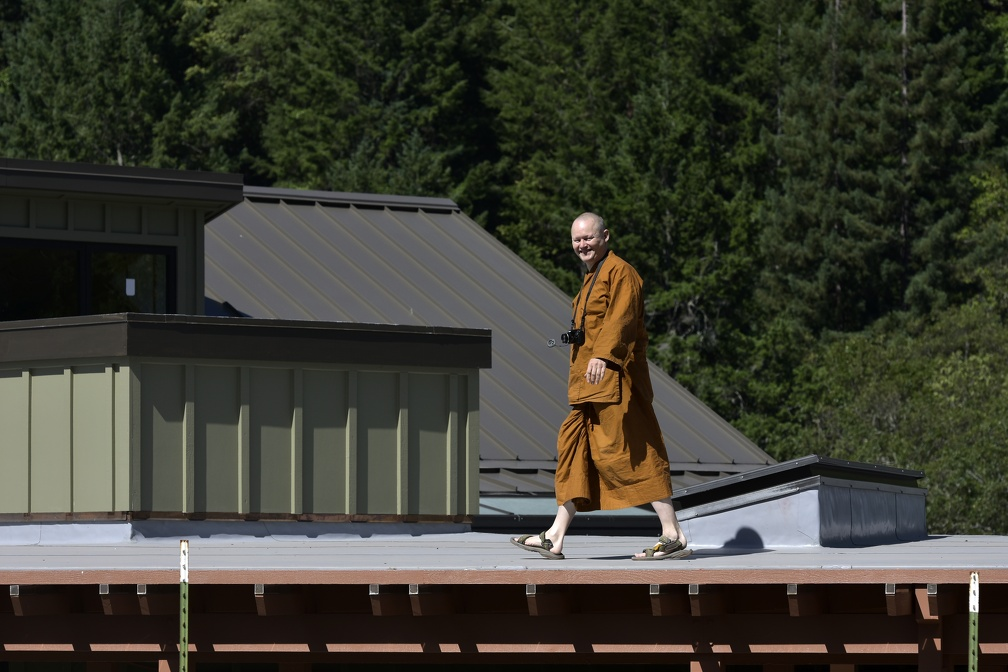 On the roof - Ajahn Jotipalo
