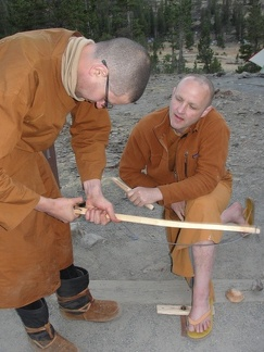 Ajahn Sudanto on his way to becoming a bow drill master