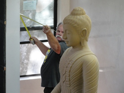 Attempting to center the Buddha