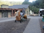 Preparing the grounds for moving the Buddha