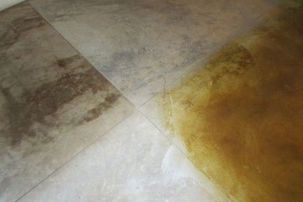 Samples of concrete floor stains