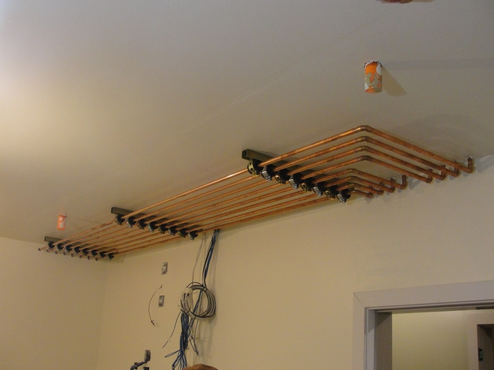 Pipe rack in Utility Room, for the radiant floors