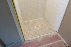 Tile work in showers