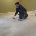 Micro-topping of concrete on basement floor