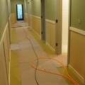 Baseboards in Basement hallway