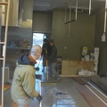 Preparing the kitchen for cabinet work