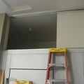 Storage space above walk-in cooler