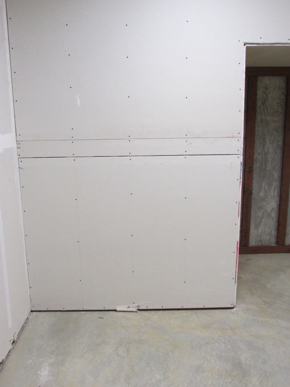 Drywall hiding duct work