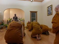 In early November, Ajahn Thiradhammo took leave of Abhayagiri after a short visit