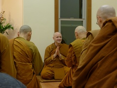After the Thanksgiving retreat, Ajahn Sudanto returned to the Pacific Hermitage with Tan Kondañño