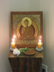 Ajahn Jotpālo also displayed his icon (devoted to learning) for Upasika day