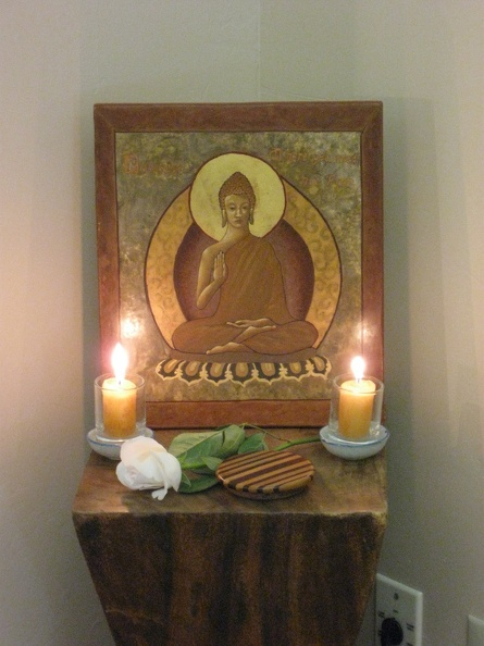 12 Ajahn Jotipalo's 'Learning Icon' on Display for Upasika Day.JPG