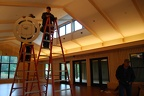 Installing pendants in Reception Hall