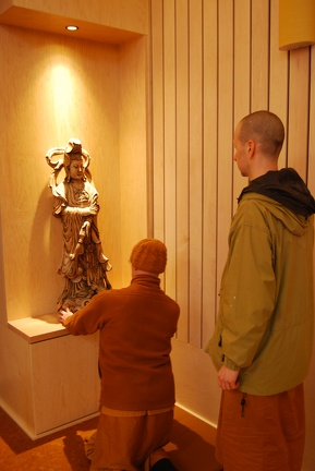 Quan Yin being placed