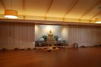 Meditation Hall set-up for ceremonies to consecrate the Buddha image