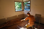 Removing oak flooring