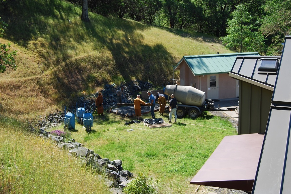 A view of the worksite