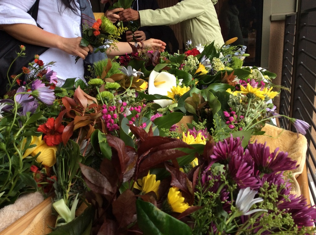 Flowers were also prepared for the final Buddha consecration ceremony on Songkran,