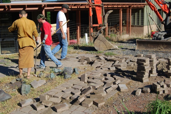 Moving bricks, so we can re-use them
