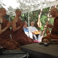 Before the Bhikkhu ordination, Sampanno and Suddhiko retake the Sāmaṇera precepts