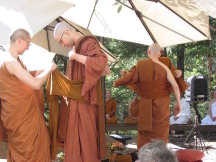 Putting on the Sanghati and Sash