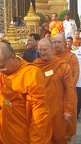 Dec. 5 - Ajahn Amaro and Luang Por Pasanno in line to formally receive their Jao Khun titles from the Prince of Thailand at The Temple of The Emerald Buddha, Bangkok. (video of the event can be seen at: http://www.abhayagiri.org/news/slideshow-of-chao-khu