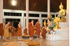 Dec. 6th evening - Luang Por Pasanno arrives to an awaiting Sangha at Wat Pah Nananchat (http://www.watpahnanachat.org/)