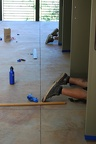 Preparations for staining concrete floors