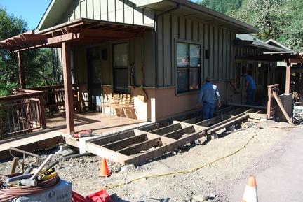 Preparing for concrete walkway