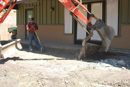 Removing concrete