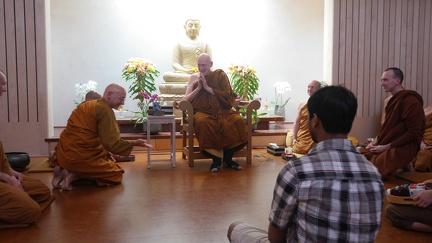 Luang Por Sumedho with Ajahn Karunadhammo