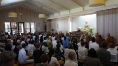 The Gathering for the Birthday Celebration for Luang Pors Sumedho and Pasanno