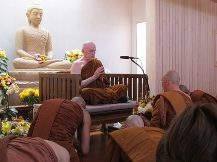 The Sangha Paying Respects