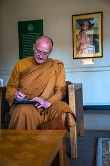 Luang Por at work