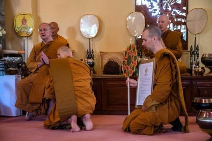Ajahn Karuṇadhammo receiving an official title