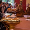 Ajahn Pasanno meets with donors before the ceremony