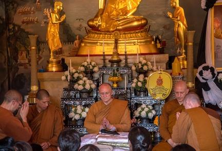 During the Kathina ceremony