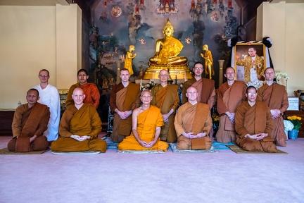 Group photo with Ajahn Maha Prasert.