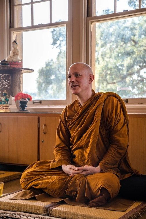 Ajahn Jayanto sharing the Dhamma.