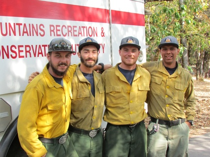 Firefighters from LA