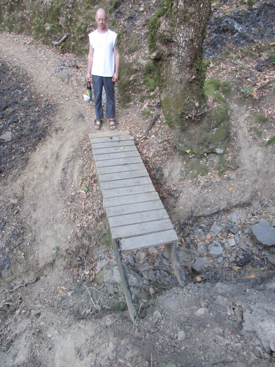 The only damage we found was one bridge needs repaired and we lost two wooden steps!