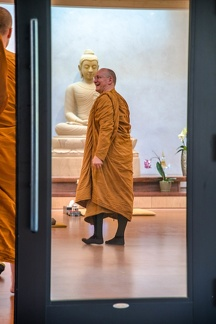 Luang por leading the way.