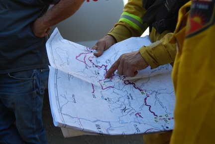 Map of fire, making a plan