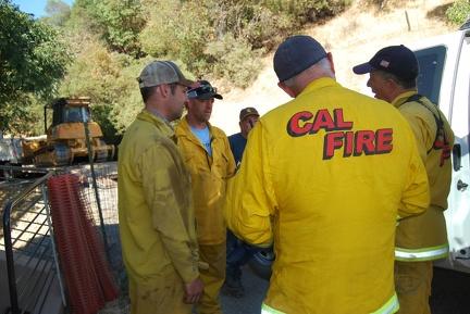 Wednesday, CalFire already repairing fire breaks