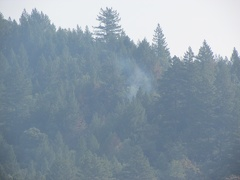 Smoke can still be seen coming from the burn areas